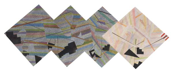 Click the image for a view of: Intersect 2. 2010. Pastel on paper